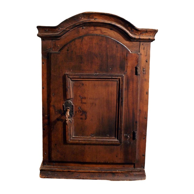 18th Century Swedish Small Pine Spice Cabinet For Sale