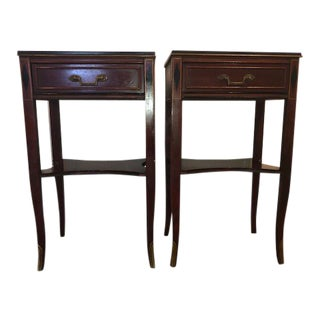 1950s Traditional Rway Provincial Nightstand End Tables - a Pair For Sale