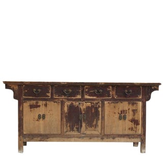 Asian Antique Shanxi Distressed Elm Wood Buffet