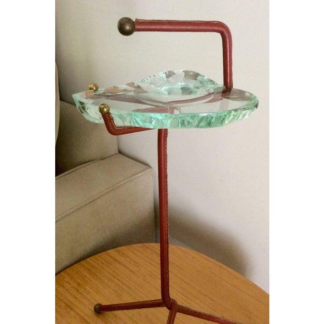 Smoking Stand With Fontana Arte Glass Ashtray - Image 5 of 6
