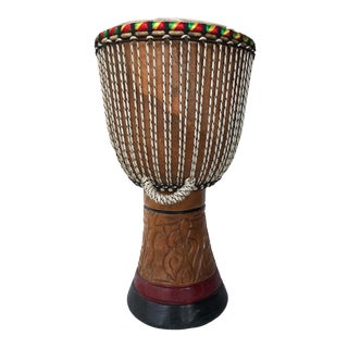 """African Djembe Drum 25"""" H For Sale"""