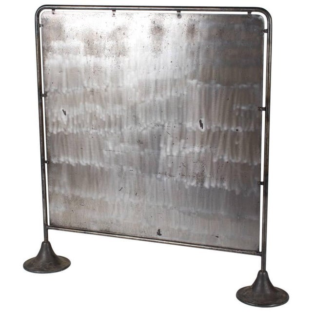 Mid 20th Century A Mid-Century Industrial Metal Screen For Sale - Image 5 of 5