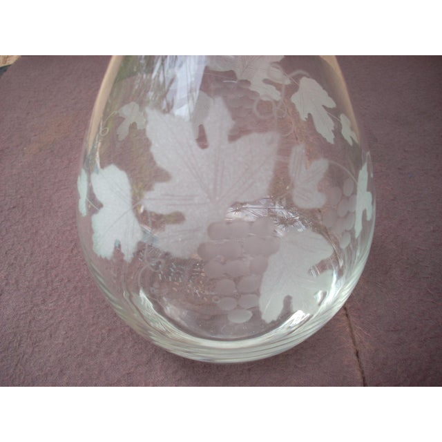 Traditional Etched Decanter For Sale - Image 3 of 4