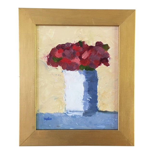 Red Roses Still Life Oil Painting - Image 1 of 6
