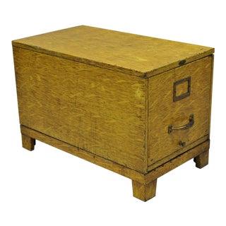 Vintage Steel Equipment Corporation Steel Faux Oak Wood Grain Painted File Cabinet For Sale