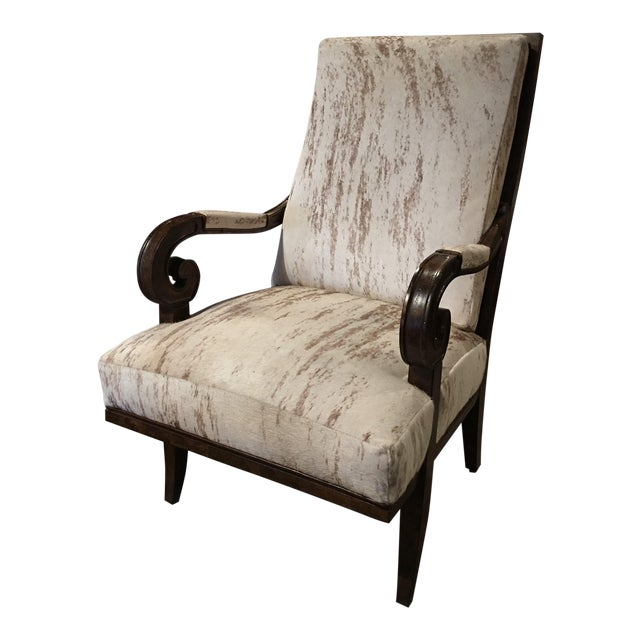 Paul Robert Leather Hyde Cosmo Chair For Sale
