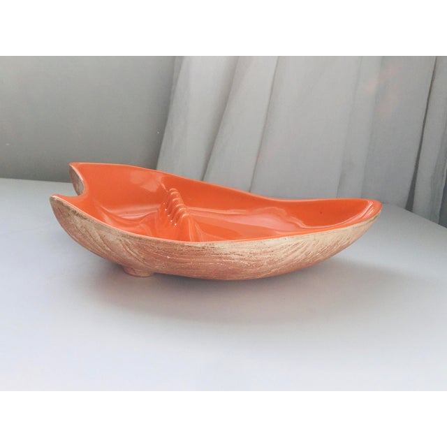 Mid-Century California Pottery Orange Atomic Ashtray For Sale In Los Angeles - Image 6 of 12