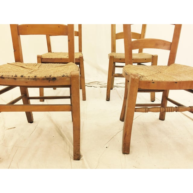 Antique Wooden Shaker Style School Chairs - Set of 4 For Sale - Image 10 of - Antique Wooden Shaker Style School Chairs - Set Of 4 Chairish