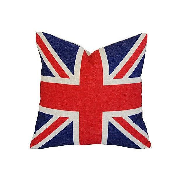 British Union Jack Linen Pillows - A Pair - Image 2 of 7