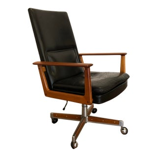 Arne Vodder Teak Executive Chair For Sale