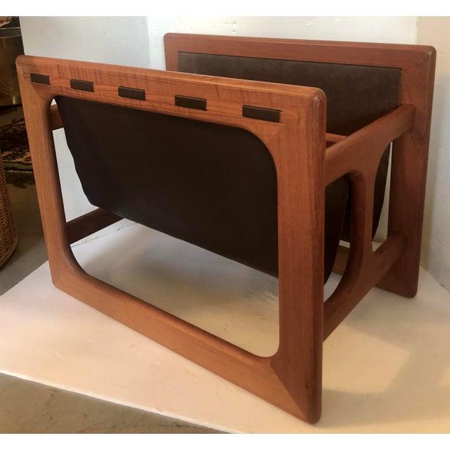 Wood Large Salin Mobler Magazine Rack For Sale - Image 7 of 7