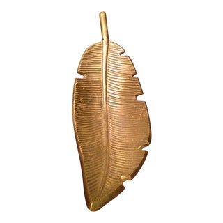 Banana Leaf Gold Decorative Tray For Sale