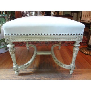 Early 20th Century French Louis XVI Style Painted Bench Preview