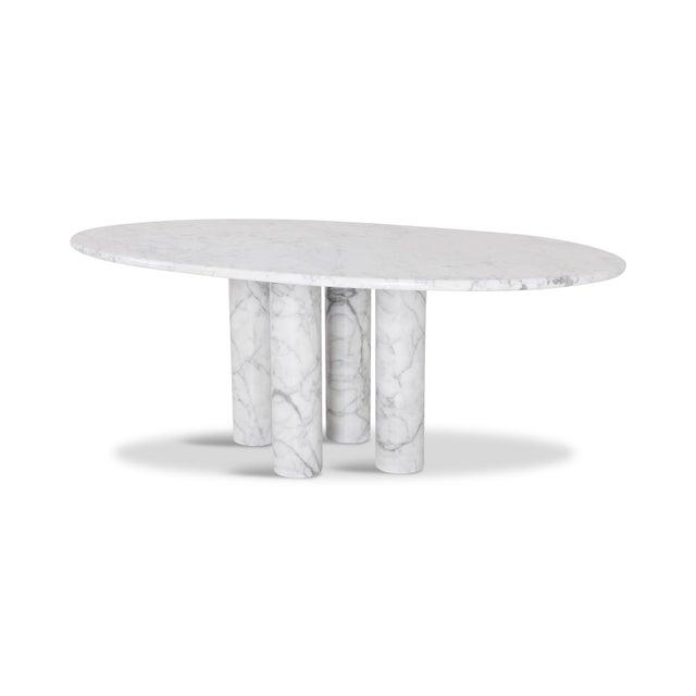 Italian Mario Bellini Il Colonnata Oval Dining Table in Carrara Marble for Cassina For Sale - Image 3 of 12