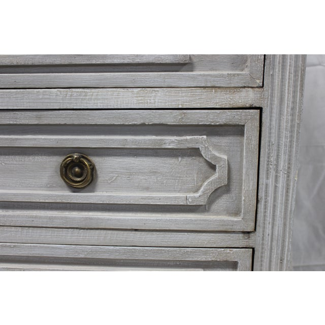 20th Century Gustavian Gray Oak Chest of Drawers For Sale - Image 4 of 7
