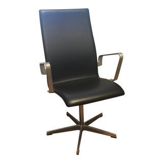 The Republic of Fritz Hansen Oxford Classic Chair. Retails at $3550 For Sale