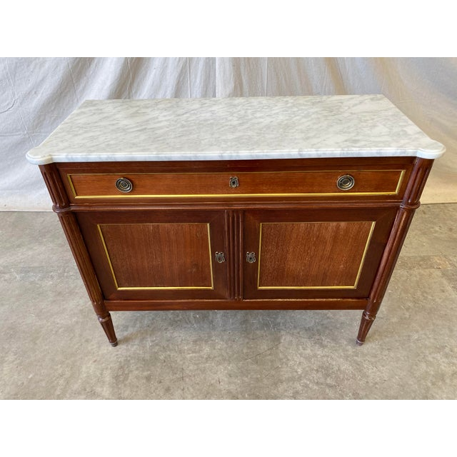 Wood Marble Top Italian Buffet - 19th C For Sale - Image 7 of 10