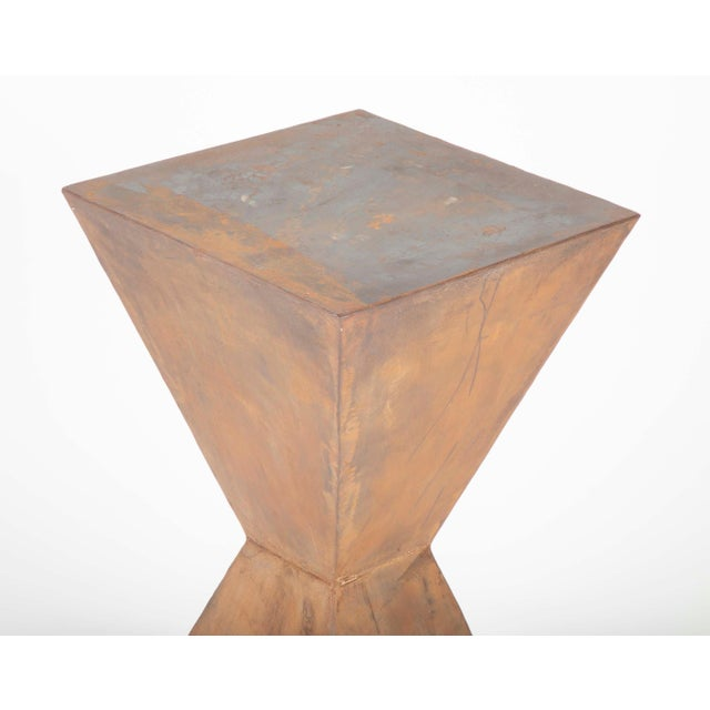 Brancusi Style Steel Side Tables - A Pair For Sale - Image 4 of 13