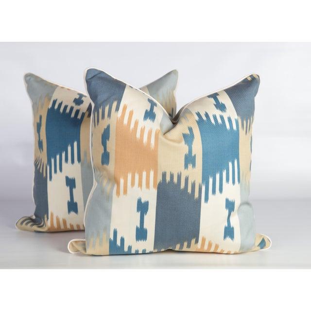 Brunschwig & Fils Brunschwig & Fils Ikat Pillows - a Pair For Sale - Image 4 of 4
