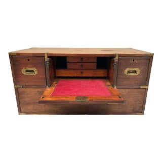 Antique Military Campaign Chest of Drawers For Sale