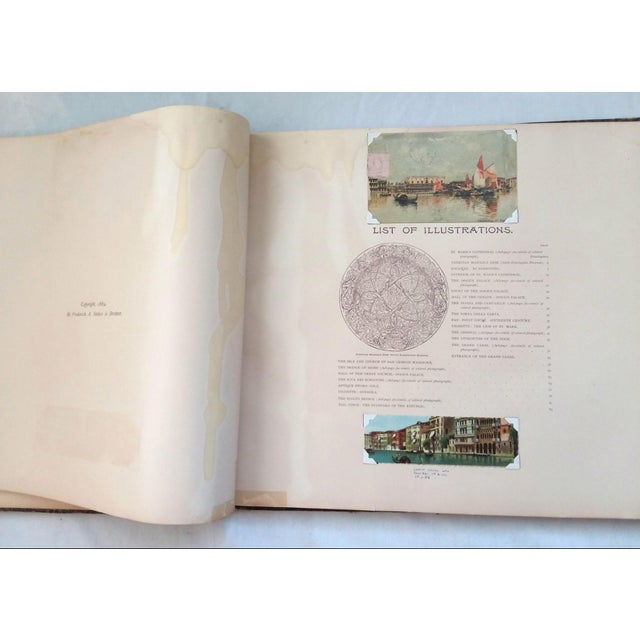 """Green """"Venice, 1889"""" Illustrated Hardcover Book For Sale - Image 8 of 12"""