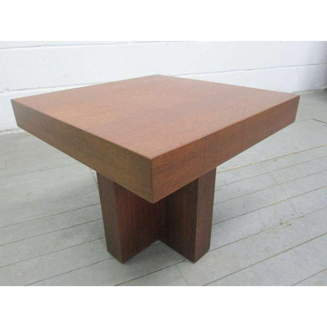 Mid-Century Modern Pair of Walnut Occasional Tables by Milo Baughman For Sale - Image 3 of 5