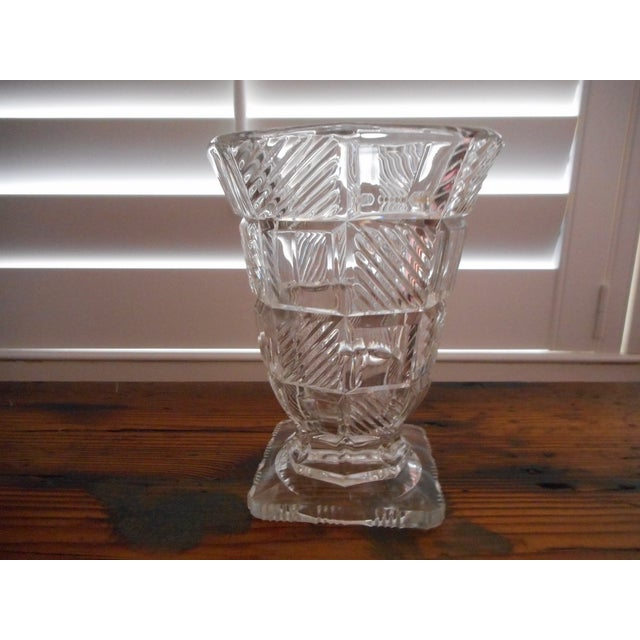 Clear glass Art Deco period vase. No condition issues.