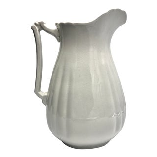 19th Century Wedgewood & Co Large Ironstone Pitcher For Sale