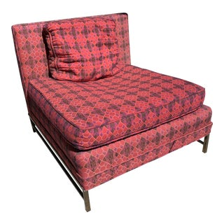 1960s Oversized Harvey Probber Slipper Chair For Sale