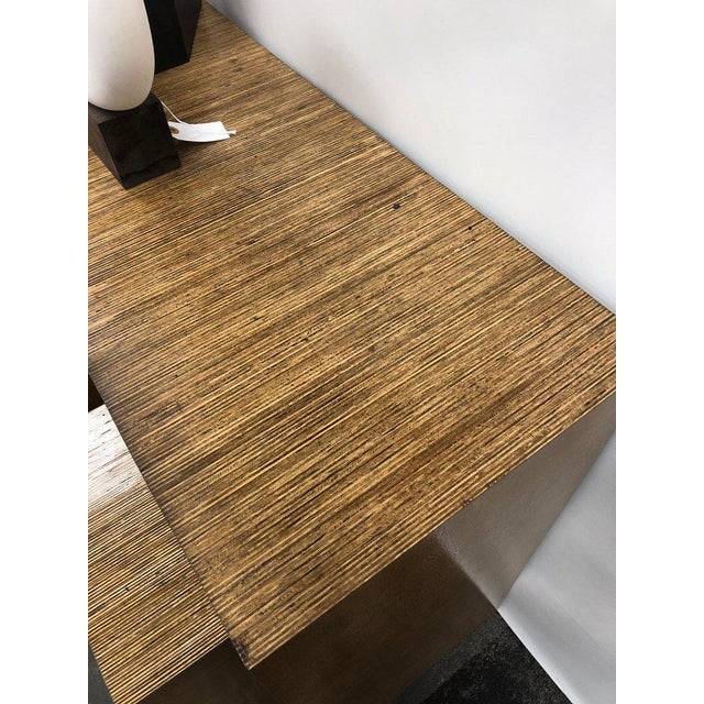 Modern Console Table and Drink Tables / Stools Set For Sale In Chicago - Image 6 of 7