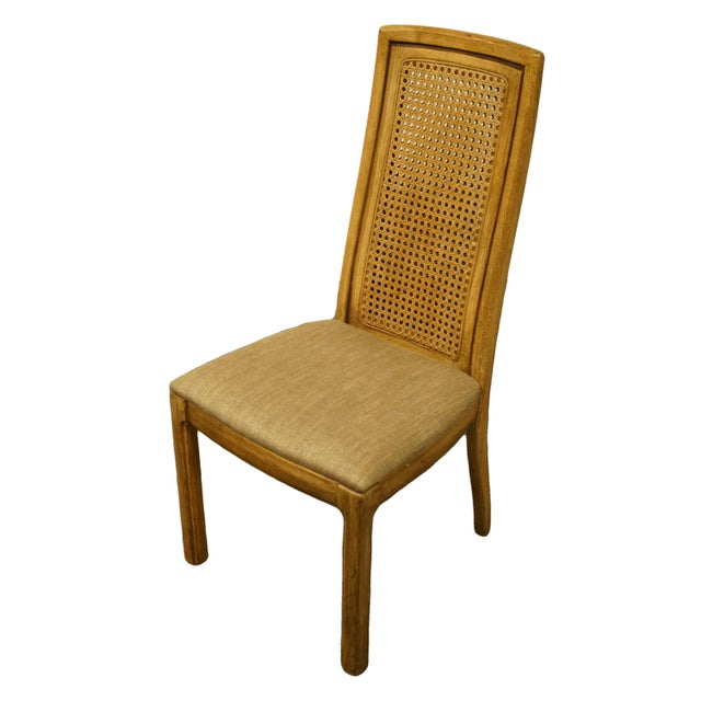 """THOMASVILLE FURNITURE Forecast Collection Contemporary Cane Back Dining Side Chair 40"""" High 19"""" Wide 23"""" Deep Seat: 18""""..."""