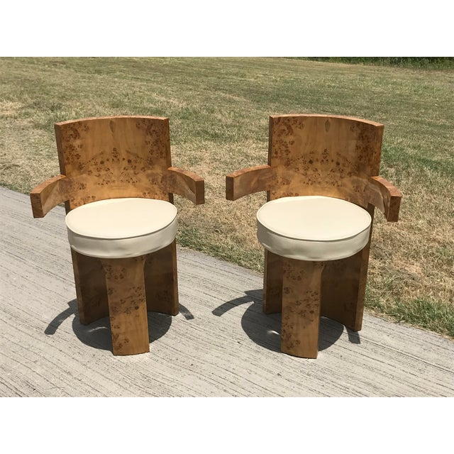 1930s Chippendale Burl Wood Dining Chairs - Set of 6 For Sale In Dallas - Image 6 of 8