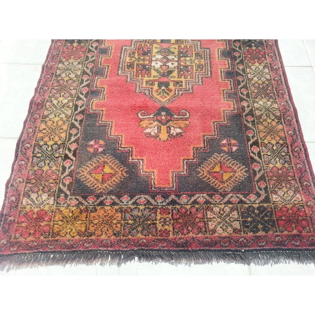 Turkish Oushak Rug - 3′7″ × 7′ For Sale In Austin - Image 6 of 6