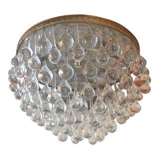 1970s Vintage Teardrop Flush Mount Chandelier For Sale