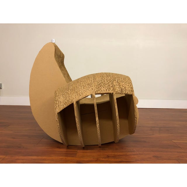 Contemporary Rocking Lounge Chair Made Entirely of Cardboard For Sale - Image 3 of 13