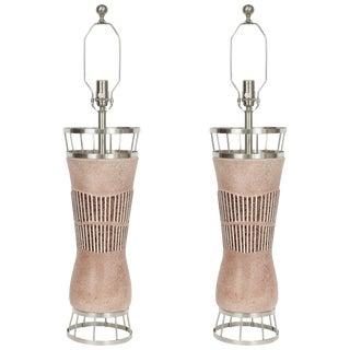 1950s Tye of California Ceramic Lamps - a Pair For Sale