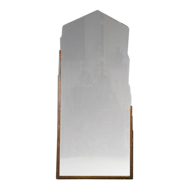 Vintage Art Deco Skyscraper Style Wall Mirror | Chairish