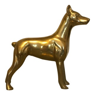Brass Dog Figure For Sale