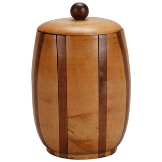 English Satinwood and Walnut Lidded Canister For Sale