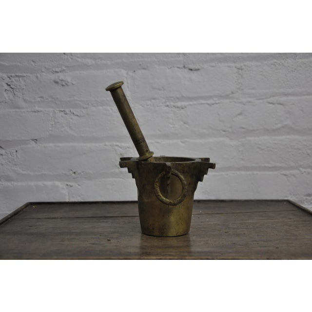 Bronze Antique Ottoman Turkish Heavy Bronze Mortar and Pestle For Sale - Image 7 of 8