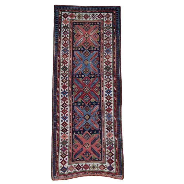 Antique Persian Talish Runner- 3′8″ × 9′1″ For Sale
