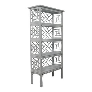 Chippendale Etagere - Light Gray For Sale