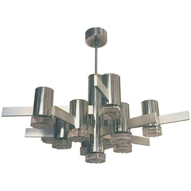 Geometric Series Chandelier by Sciolari For Sale In Palm Springs - Image 6 of 6