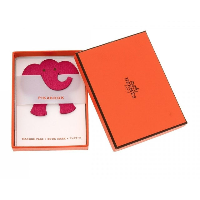 This authentic Hermes Pikabook Elephant leather bookmark is the perfect gift for the bookworm who has everything! This...