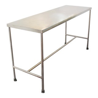 Industrial Modern Style Stainless Steel H-Base Table For Sale