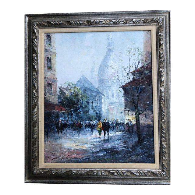Original Impressionist Mid Century Painting of Venice Framed For Sale