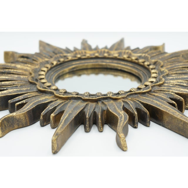 French French Golden Gilt Sunburst Mirror For Sale - Image 3 of 12