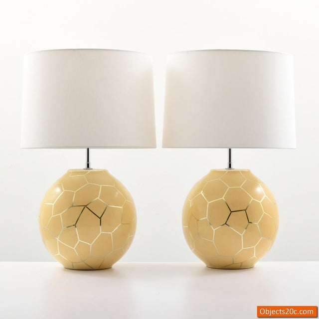 1980s Contemporary Karl Springer Lamps - a Pair For Sale - Image 9 of 10