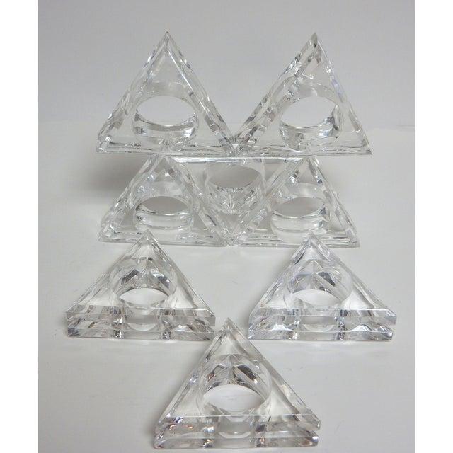 Mid-Century Modern Acrylic Napkin Rings - Set of 8 - Image 2 of 5