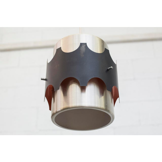 Hoogersvort Style Spun Aluminum & Black Cylinder Pendants - Set of 3 - Image 6 of 6